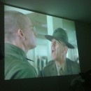 Full Metal Jacket projected on my lounge room wall