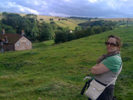 Mum and the deserted medieval village of doom
